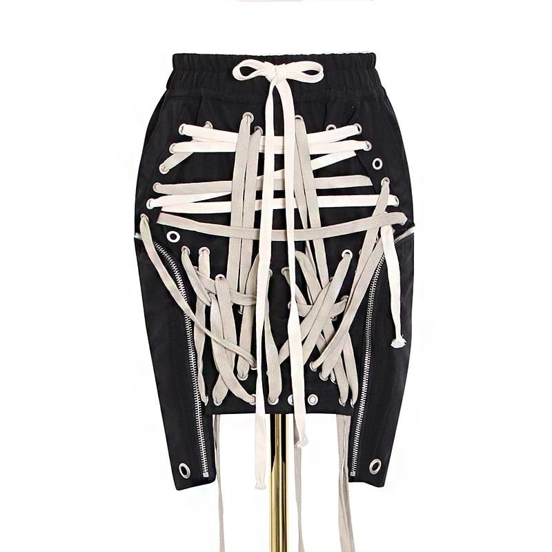 TOUCH DOWN High wasted rope skirt