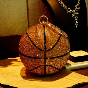 B Ball bling purse