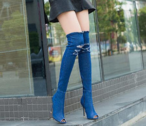 Blue Jean knee high