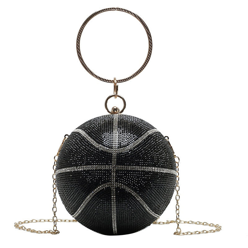 B Ball Rhinestone purse