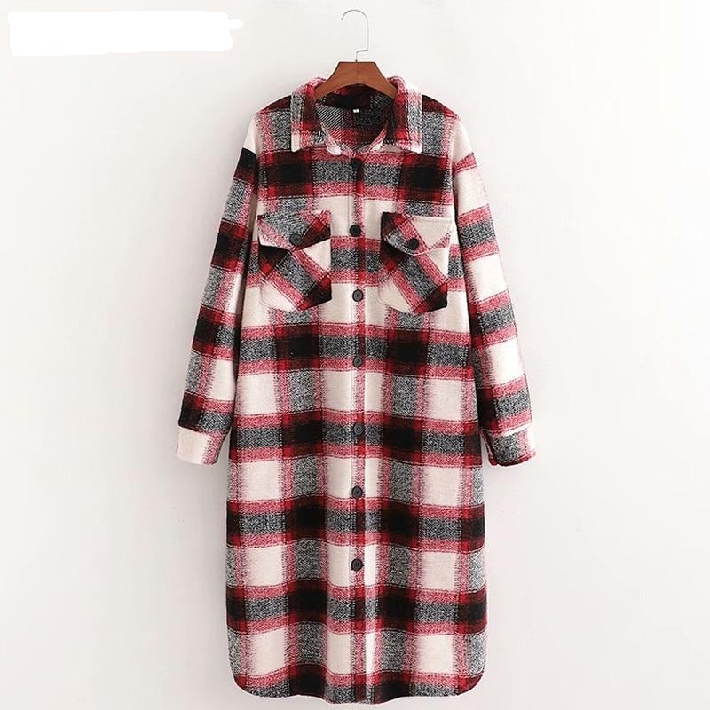 Loose over size wool coat