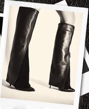 Lisa suede Leather zipper Mid-Calf Boots