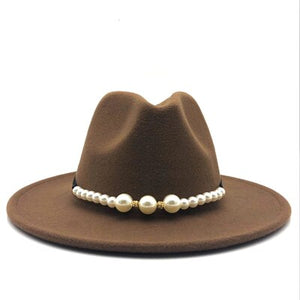 Pearls Fedora hat