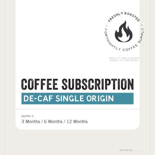 COFFEE SUBSCRIPTION. DE-CAF