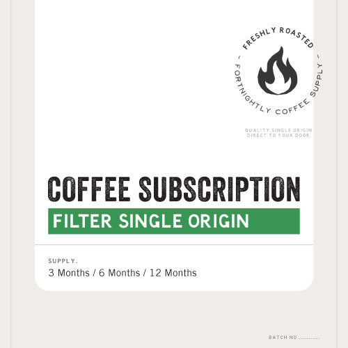 COFFEE SUBSCRIPTION. PREMIUM SINGLE ORIGIN