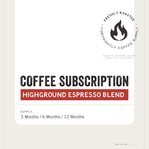COFFEE SUBSCRIPTION. HOUSE BLEND