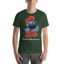 Load image into Gallery viewer, Bella Rockin Smurf Short-Sleeve Unisex T-Shirt - Rockin D Beard