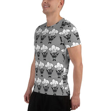 Load image into Gallery viewer, Rockin Chef All-Over Print Men's Athletic T-Shirt - Rockin D Beard
