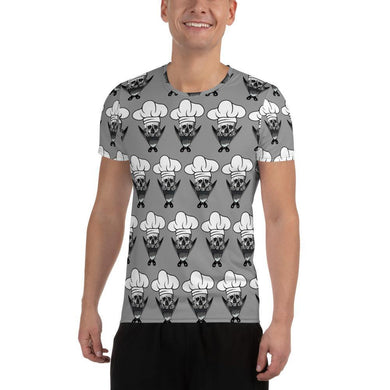 Rockin Chef All-Over Print Men's Athletic T-Shirt