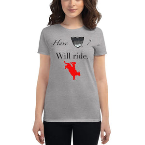 HaveBeard? WillRide Women's short sleeve t-shirt