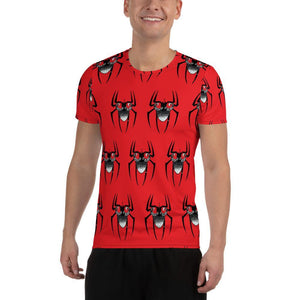 Spider Beard All-Over Print Men's Athletic T-shirt