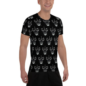 Rockin d All-Over Print Men's Athletic T-shirt