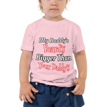 Load image into Gallery viewer, Daddy's Beard Toddler Short Sleeve Tee