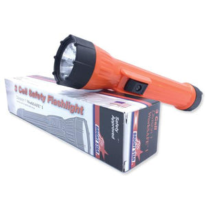 "SAFETY FLASHLIGHT 3 X ""D"" BATTERY"
