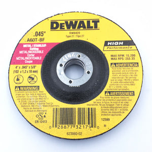 "4"" X 5/8""-11 TYPE 27 GRINDING DISC STEEL/SS"