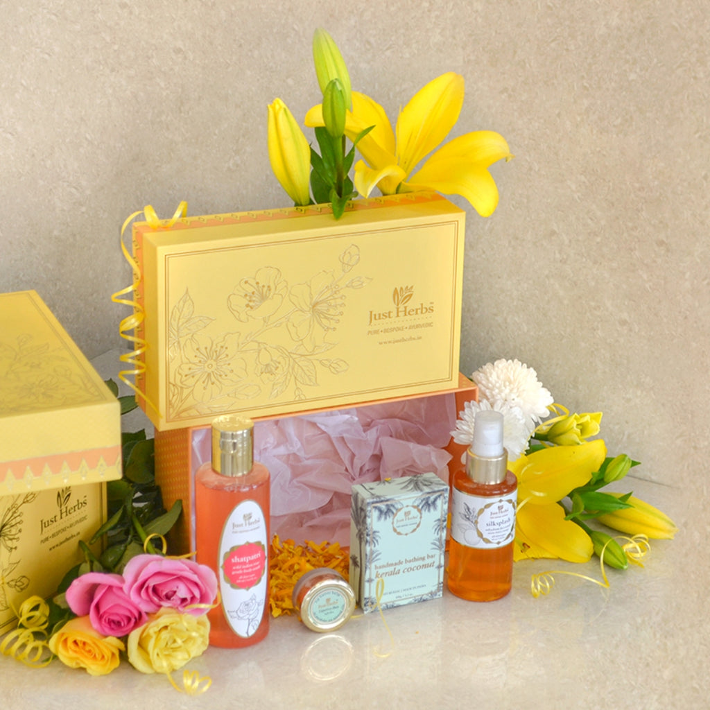 Blissful Blossom Yellow Gift Set
