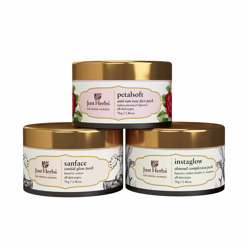 Ayurvedic Face Pack Trio (Value ₹1185)