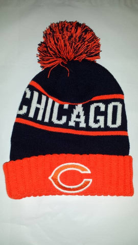 CHICAGO BEARS  WINTER RED KNIT HATS