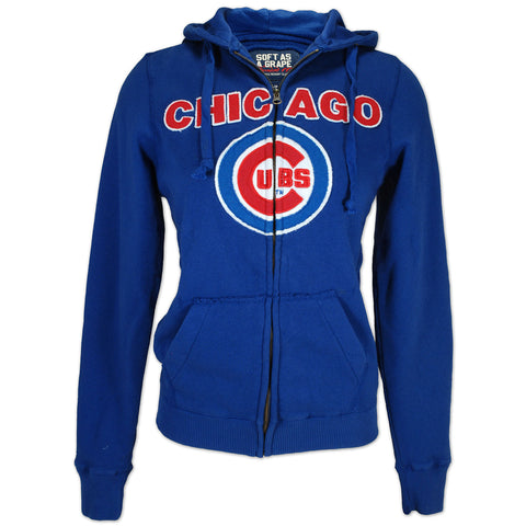 Chicago Cubs womens zip hoodie