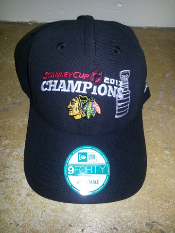 2 BLACKHAWKS STANLEY CUP CHAMPION BLACK NEW  ERA
