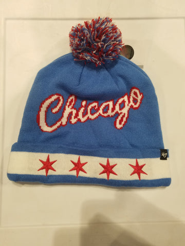CHICAGO FLAGS WINTER KNIT HATS