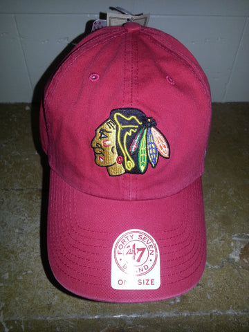 21  CHICAGO BLACKHAWKS RED ADJUSTABLE CHINO