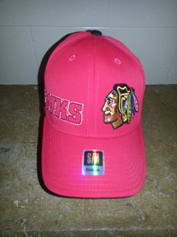 22 CHICAGO BLACKHAWKS RED FITTED REEBOK
