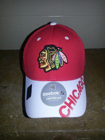 32 CHICAGO BLACKHAWKS RED WHITEE BILL FITTED