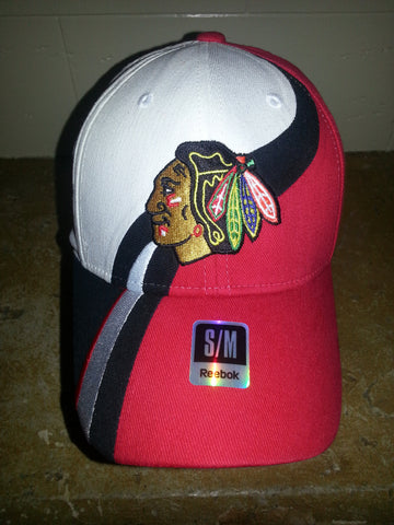 35 CHICAGO BLACKHAWKS  RD WHITE FITTED REEBOK