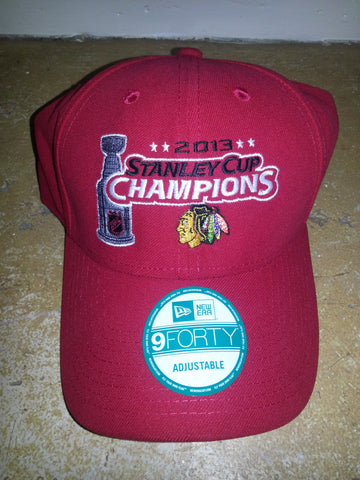 3 BLACKHAWKS STANLEY CUP CHAMPION RED  NEW  ERA