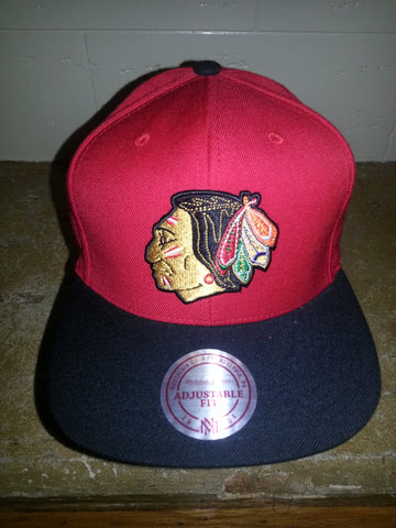44 CHICAGO BLACKHAWKS MITCHELL NESS SNAPBACKS