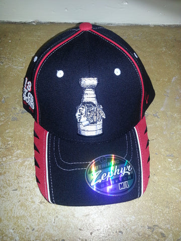 4 BLACKHAWKS STANLEY CUP CHAMPION ZEPHYR FITTED