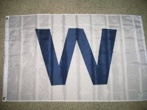 "Chicago Cubs 3'x5' ""W"" Win Flag"