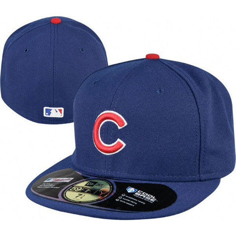 Chicago Cubs New Era Royal AC On-Field 59FIFTY Game Performance Fitted Hat
