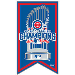Chicago Cubs 2016 World Series Champions Banner Lapel Pin