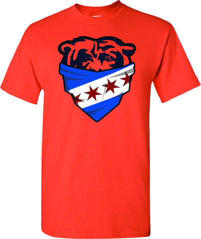Chicago Flag Bandana Bears Face