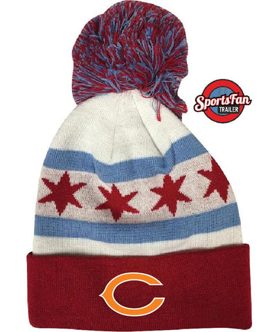 Chicago Flag Chicago Bears Knit