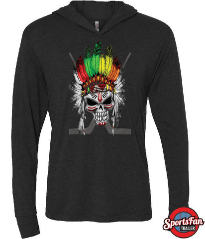Chief Hawk Vintage Black Next Level Hoodie
