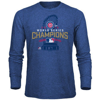Chicago Cubs 2016 World Series Champ Locker Room Long Sleeve T-Shirt