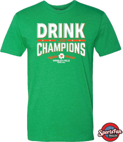 Drink Like Champions Shamrock Irish Green