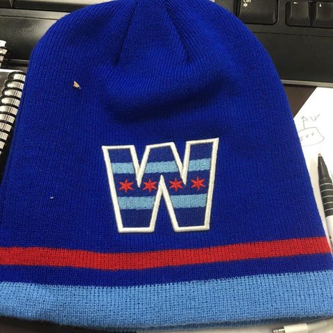 W CHICAGO FLAG WINTER KNITS HAT