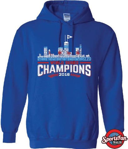 Chi Skyline Cubs Champs 16 Royal Blue Hoods