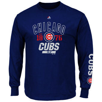 Chicago Cubs Majestic Royal Flawless Victory Long Sleeve T-Shirt