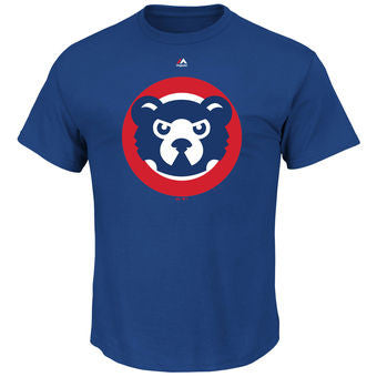Chicago Cubs Majestic Royal Cooperstown Logo T-Shirt