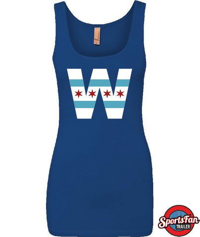 W Chi Flag Royal Blue Next Level Tank Top