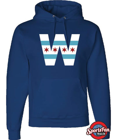 W Chicago Flag Hood