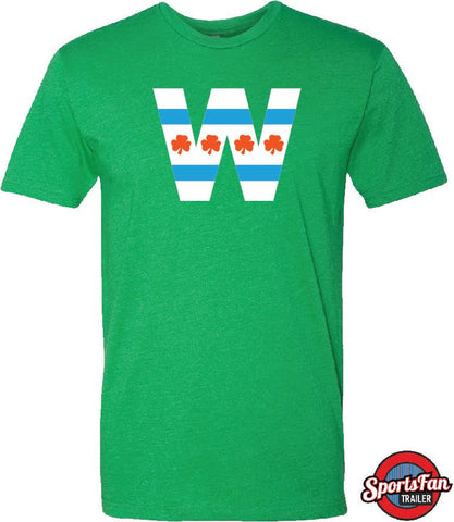 W Shamrock Chi Flag Irish Green