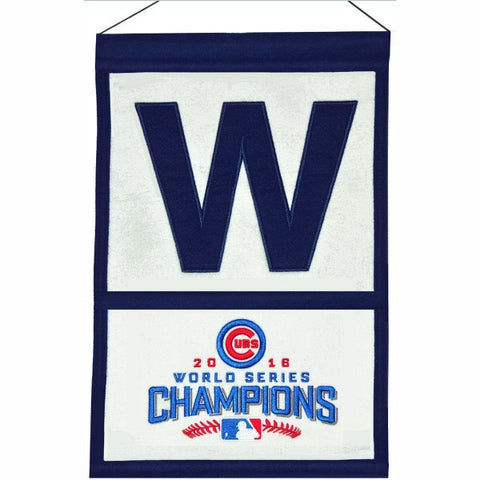 "Chicago Cubs World Series Champs ""W"" Banner"