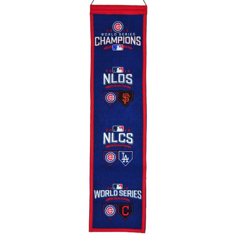 Cubs Path to World Series Champs Banner