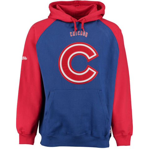 Men's Chicago Cubs Stitches Royal Fleece Raglan Hoodie